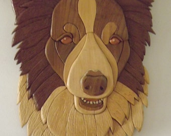 Australian Border Collie Wooden Wall Hanging
