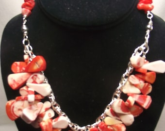 Fancy Coral Statement Necklace
