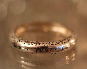 Love Faith Hope Silver Bracelet