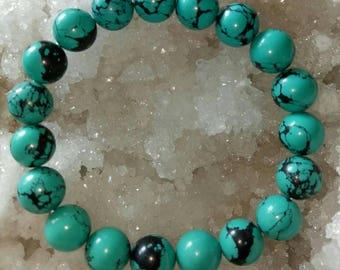Turquoise Howlite Stone Beads