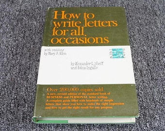 How to write letters etsy how to write letters for all occasions byalexander sheff 1961 expocarfo Image collections