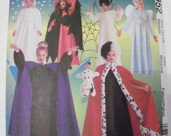 McCall's # 8952 Girls 7,8,10,12,14 Misses S, M, L, XL Dresses/Capes/Hats/Halos New Uncut Pattern Halloween