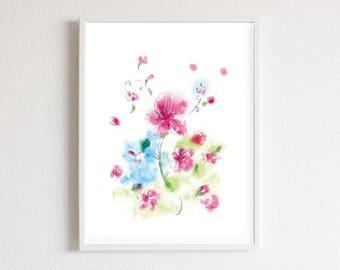 Sakura flower picture handwriting art