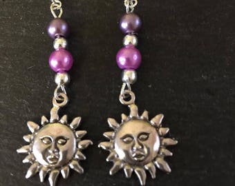 Customized Tibetan  Boho Pearl  Glass Dream Earrings