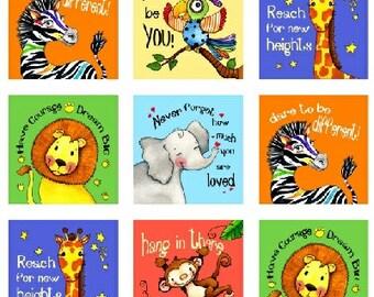 Positive Thinking, Jungle animals,elizabeth Studio
