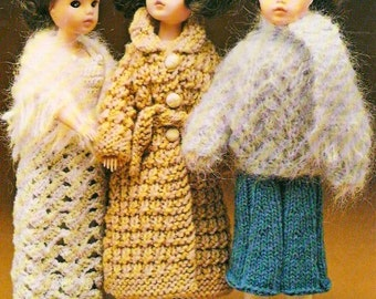 856005744 1990 KNIT DOLL CLOTHES Knitting Patterns - Over 20 Designs to Knit ...