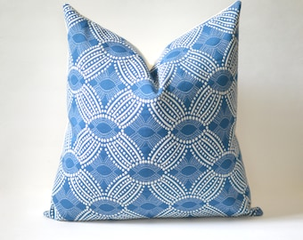 Blue Dots Pillow Cover