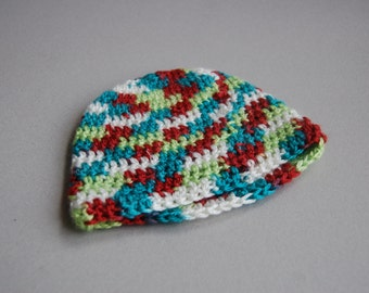 Beachy baby hat - Premie ready to ship