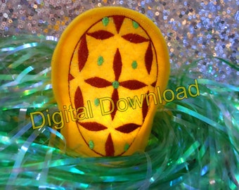 Yellow Egg LED Tealight Cover