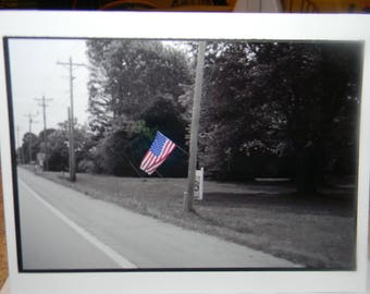 photo card, American Flag photograph, Arkansas travel photography