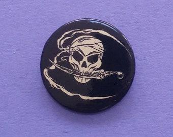 Pirate Skull NOS Vintage Pin