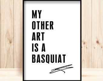 Basquiat Wall Art, Jean Michel Basquiat Prints, Basquiat Downloadable, Basquiat Poster, Graffiti Prints, Street Art, Basquait Typo Wall Art