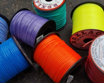 Rexlace Spools - Multiple Colors - 100 yard (300 feet) of Plastic Lace