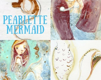 Pearlette Mermaid online workshop - by Mindy Lacefield