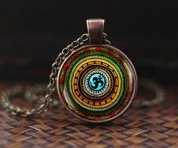 Om Symbol Necklace Om Pendant Namaste Necklace Zen Pendant