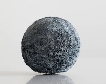 Moon Globe, 3D Printed, Space, Gift, NASA, Young Living, Interior Design, Home Decor, Minimalist