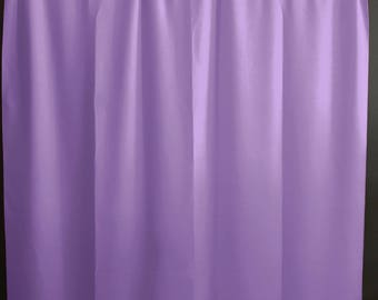 Solid Poplin Curtain Panel / Window Decor / Window Treatments / Backdrop Lavender