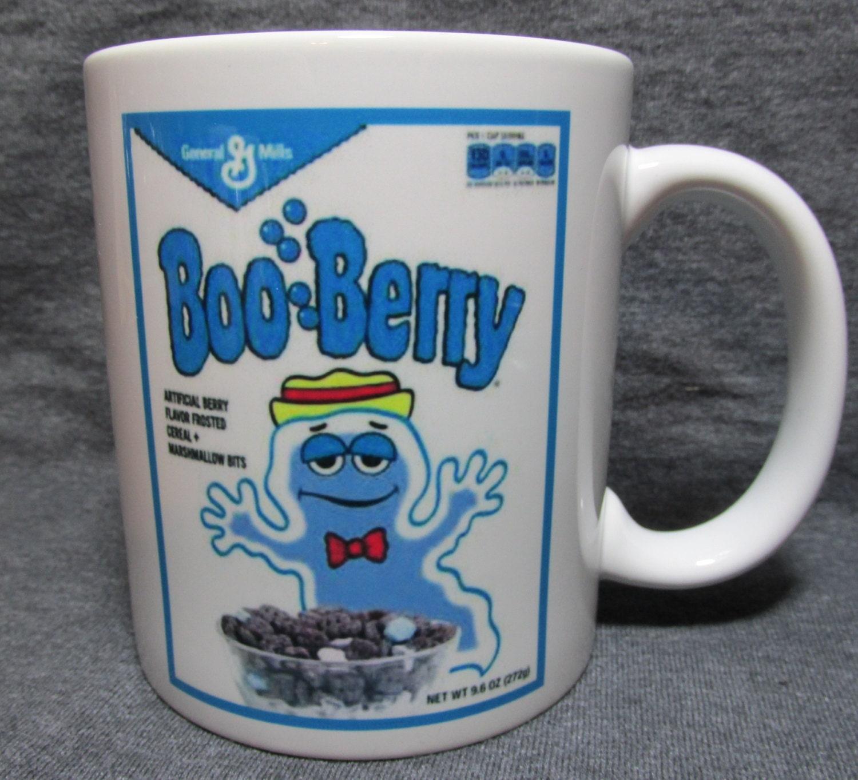 Boo Berry Cereal Box Vintage Image Shown On 11oz Coffee Mug