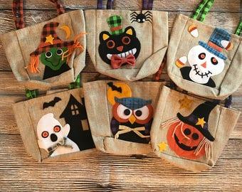 Mini Treat or Treat Halloween Bags