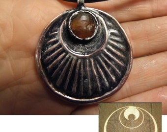 Crop circle with baltic amber from Kaliningrad, hand made
