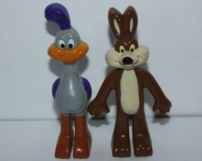 """Vintage Arby's 1988 Looney Tunes Road Runner & Coyote 3"""" Figures"""