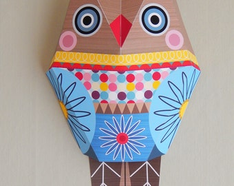 Mr Owl, wall decor, paper craft