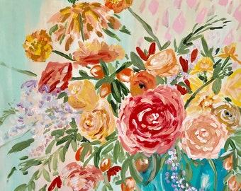 "Original Still Life acrylic painting ""Summer is Coming"" 24x20"