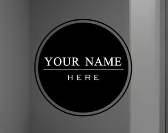 Custom Window Decal, Personalized Logo Decals, Store Glass Decals
