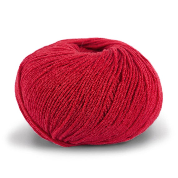 STIKDET Baby merino - red / rød