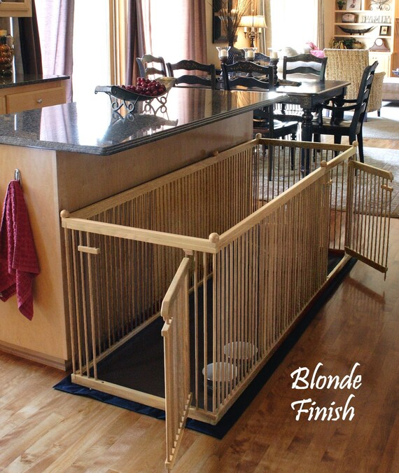 2 X6 Solid Maple Extended Length Indoor Dog Kennel