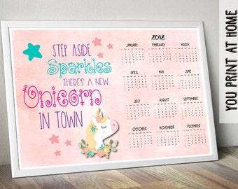 Unicorn calendar   Etsy