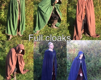 Everyday Flannel Cloak- Dungeon & Dragons, Renaissance, Cosplay, Medieval, LARP, Comic, Halloween