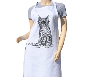 Kitchen Apron - Baking Apron - Cute Apron - Womens Apron - Cat Apron -  Teacher Gift Ideas - Gifts for Mom - Birthday Gift Idea