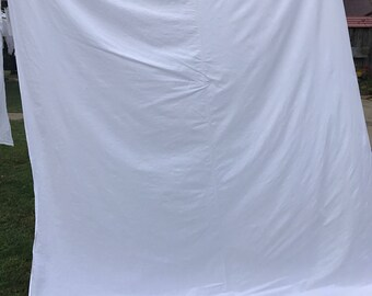Vintage White P.N. Hirsch Co. Lady Margaret All Cotton Percale Full Size Flat Sheet