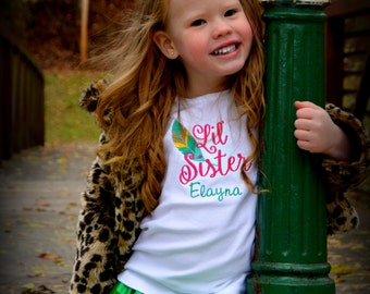 Big Sister Little Sister Shirts - Big Brother Little Brother Shirts - Personalized Sister Shirt - Pregnancy Announcement Shirt