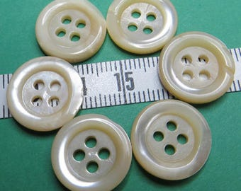 Buttons beige Pearl 1.5 cm (6) - #6014_15