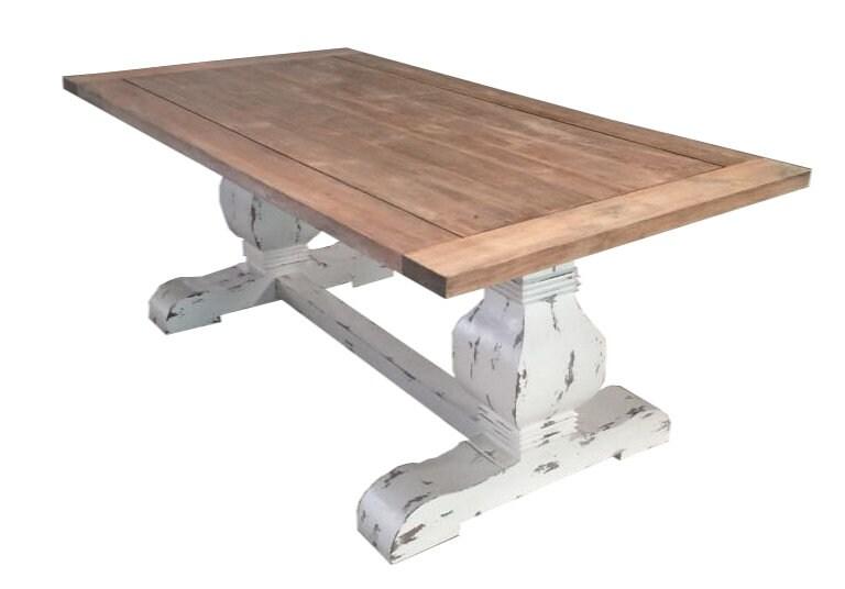Reclaimed Dining table, Shabby chic Wood Table, Custom Tabletop