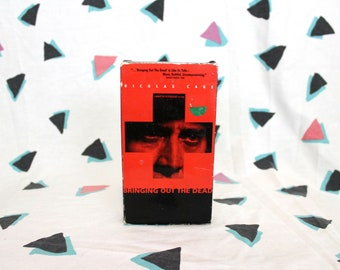 Bringing Out the Dead VHS Tape. Nicholas Cage Gritty Violent Cult Classic. Martin Scorcese Directed NYC Violent Drama. Taxi Driver Director