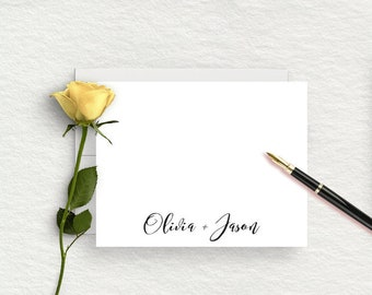 Wedding Thank You Cards, Personalized Wedding Stationery, Couples Stationary, Thank You Cards,  Bridal Shower, Engagement Gift For Her, WS09