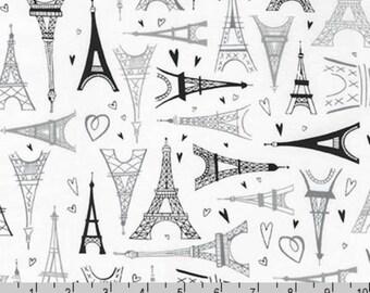 Paris Adventure - Eiffel Tower White by Margaret Berg from Robert Kaufman