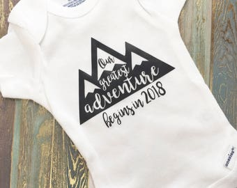 Our Greatest Adventure | Pregnancy | Announcement | To Husband | To Grandparents | Gerber Onesie® | Reveal | Baby | Keepsake