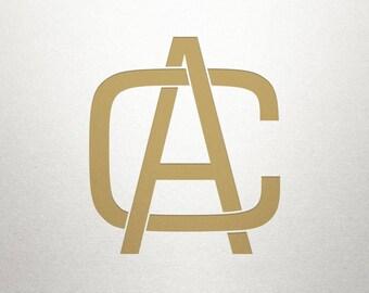Printable Monogram Design - AC CA - Printable Monogram - Digital