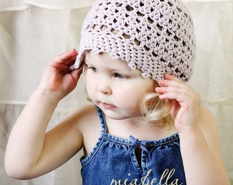 Download Now - CROCHET PATTERN Slouchy Picot Hat - Baby to Adult - Pattern PDF
