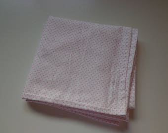 Receiving Blanket, Pink and White polka dot Swaddle Blanket