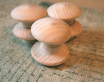 DIY bouleau fin Grain en bois boutons 2 pouce lot de 6