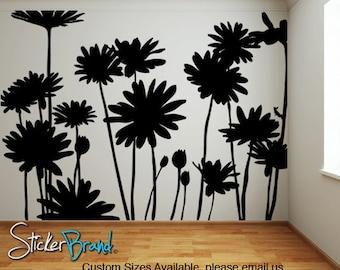 Vinyl Wall Decal Sticker Daisies Flowers  AC141m