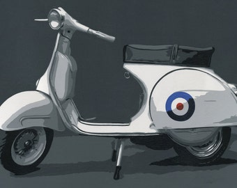 Iconic Vespa, Pop Art, Scooter, Vespa, Print, for scooter lovers