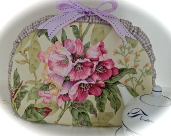 Shabby Chic Lavender Oleander Insulated Tea Cozy for your Pot of Tea