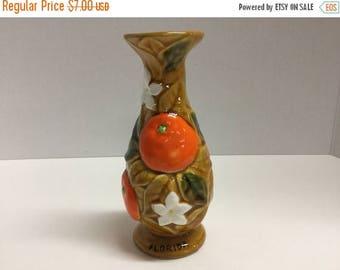 Sale Vintage Florida Souvenir Vase Oranges Orange Florida Vase