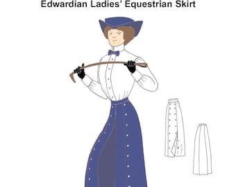 RH951 — Edwardian Ladies' Equestrian Skirt